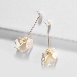 White Petal Earring